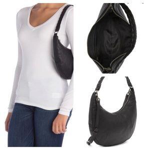 Lucky Brand Vala Leather Shoulder Bag Black